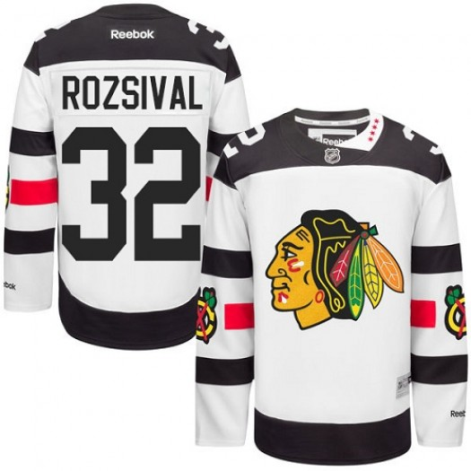 Michal Rozsival Chicago Blackhawks Men's Reebok Authentic White 2016 Stadium Series Jersey