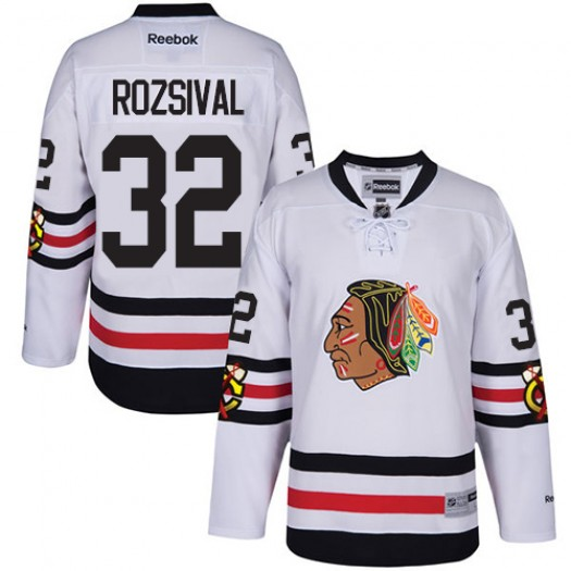 Michal Rozsival Chicago Blackhawks Men's Reebok Authentic White 2017 Winter Classic Jersey