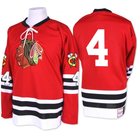 Niklas Hjalmarsson Chicago Blackhawks Men's Mitchell and Ness Authentic Red 1960-61 Throwback Jersey