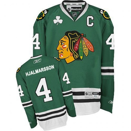 Niklas Hjalmarsson Chicago Blackhawks Men's Reebok Authentic Green Jersey