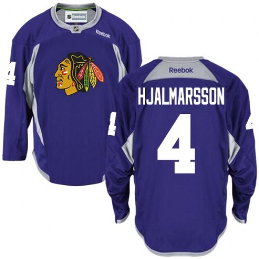 Niklas Hjalmarsson Chicago Blackhawks Men's Reebok Authentic Purple Practice Jersey