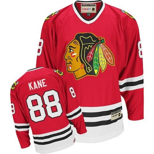 Patrick Kane Chicago Blackhawks Men's CCM Authentic Red Throwback Jersey