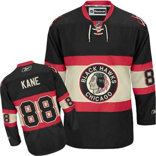 Patrick Kane Chicago Blackhawks Men's Reebok Authentic Black New Third Jersey