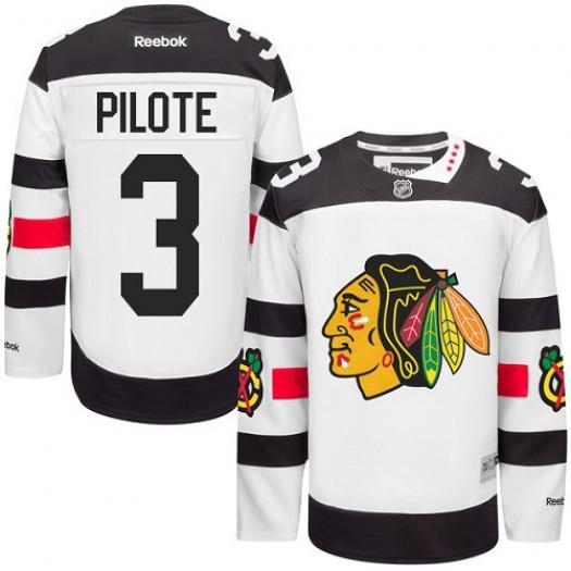 Pierre Pilote Chicago Blackhawks Men's Reebok Authentic White 2016 Stadium Series Jersey