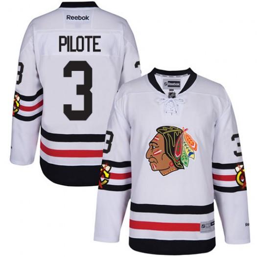 Pierre Pilote Chicago Blackhawks Men's Reebok Authentic White 2017 Winter Classic Jersey