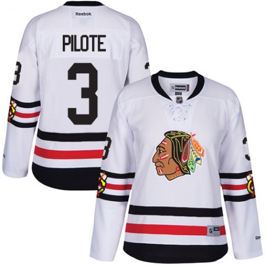 Pierre Pilote Chicago Blackhawks Women's Reebok Authentic White 2017 Winter Classic Jersey