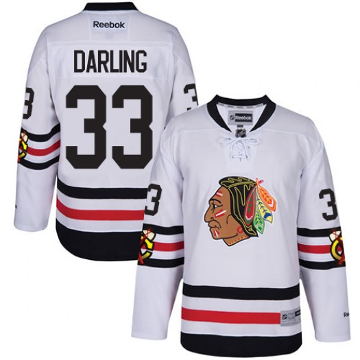 Scott Darling Chicago Blackhawks Men's Reebok Authentic White 2017 Winter Classic Jersey