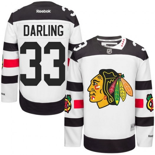 Scott Darling Chicago Blackhawks Men's Reebok Premier White 2016 Stadium Series Jersey