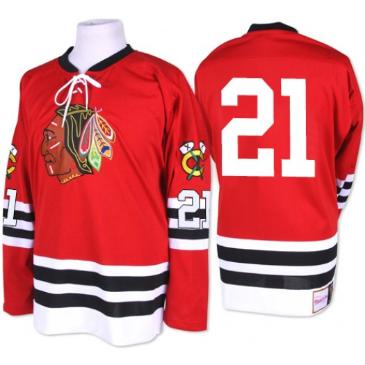 Stan Mikita Chicago Blackhawks Men's Mitchell and Ness Premier Red 1960-61 Throwback Jersey