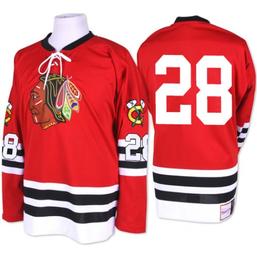 Steve Larmer Chicago Blackhawks Men's Mitchell and Ness Authentic Red 1960-61 Throwback Jersey