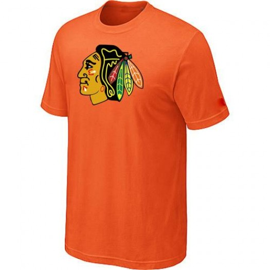 Chicago Blackhawks Men's Orange Big & Tall Logo T-Shirt