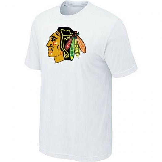 Chicago Blackhawks Men's White Big & Tall Logo T-Shirt