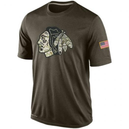 Chicago Blackhawks Men's Nike Olive Salute To Service KO Performance Dri-FIT T-Shirt