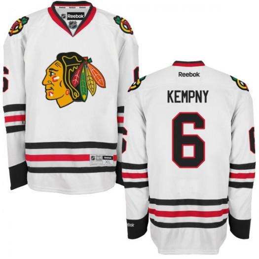 Michal Kempny Chicago Blackhawks Men's Reebok Replica White Away Jersey