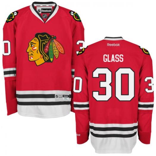 Jeff Glass Chicago Blackhawks Men's Reebok Replica Red Home Jersey