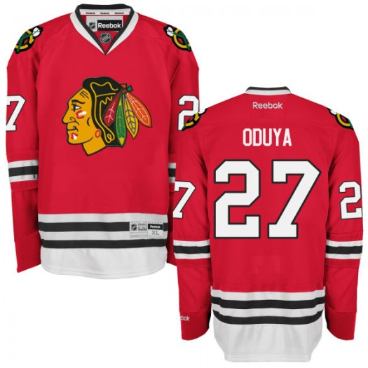 Johnny Oduya Chicago Blackhawks Men's Reebok Replica Red Home Jersey