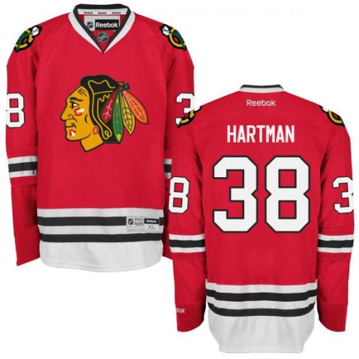 Ryan Hartman Chicago Blackhawks Men's Reebok Replica Red Home Jersey