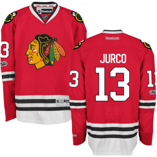 Tomas Jurco Chicago Blackhawks Men's Reebok Replica Red Home Centennial Patch Jersey