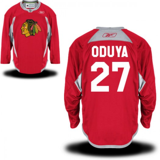 Johnny Oduya Chicago Blackhawks Men's Reebok Premier Red Practice Team Jersey