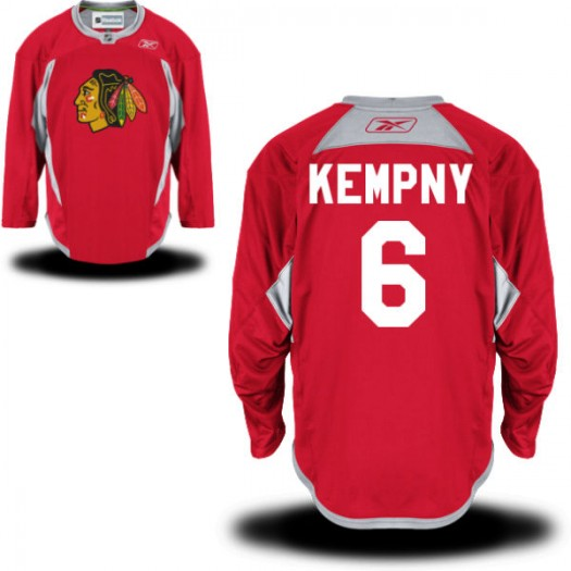 Michal Kempny Chicago Blackhawks Men's Reebok Premier Red Practice Team Jersey