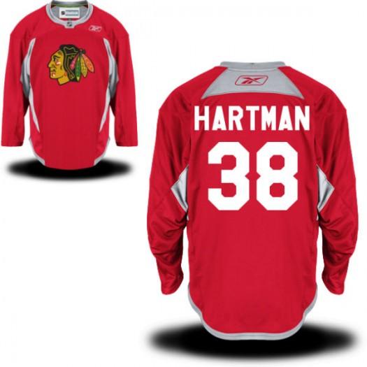 Ryan Hartman Chicago Blackhawks Men's Reebok Premier Red Practice Team Jersey