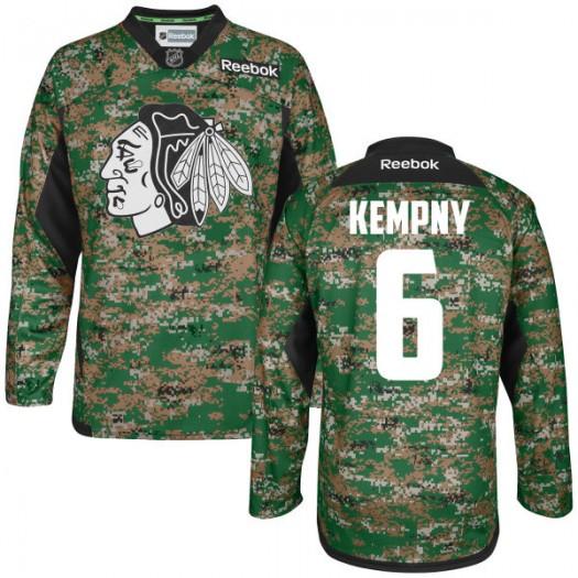 Michal Kempny Chicago Blackhawks Men's Reebok Premier Camo Digital Veteran's Day Practice Jersey