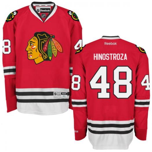 Vinnie Hinostroza Chicago Blackhawks Men's Reebok Premier Red Home Jersey