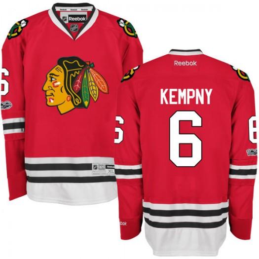 Michal Kempny Chicago Blackhawks Men's Reebok Premier Red Home Centennial Patch Jersey