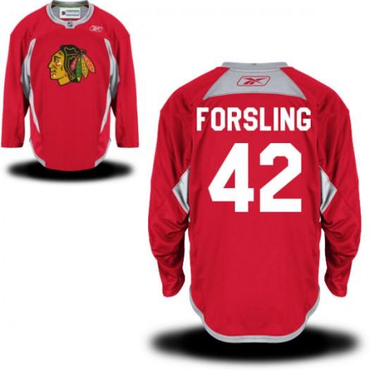 Gustav Forsling Chicago Blackhawks Men's Reebok Authentic Red Practice Team Jersey