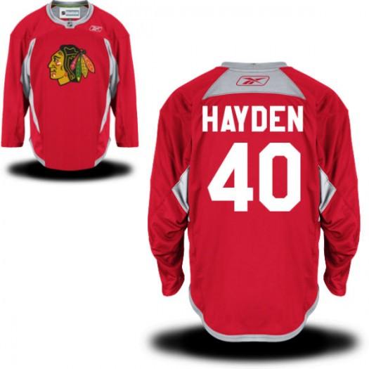 John Hayden Chicago Blackhawks Men's Reebok Authentic Red Practice Team Jersey
