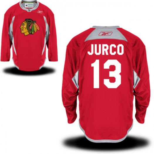 Tomas Jurco Chicago Blackhawks Men's Reebok Authentic Red Practice Team Jersey