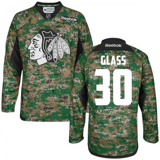 Jeff Glass Chicago Blackhawks Men's Reebok Authentic Camo Digital Veteran's Day Practice Jersey