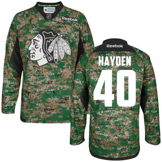 John Hayden Chicago Blackhawks Men's Reebok Authentic Camo Digital Veteran's Day Practice Jersey