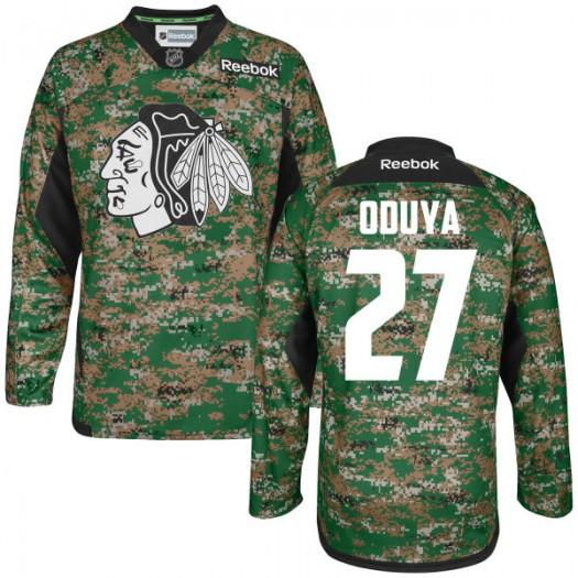 Johnny Oduya Chicago Blackhawks Men's Reebok Authentic Camo Digital Veteran's Day Practice Jersey