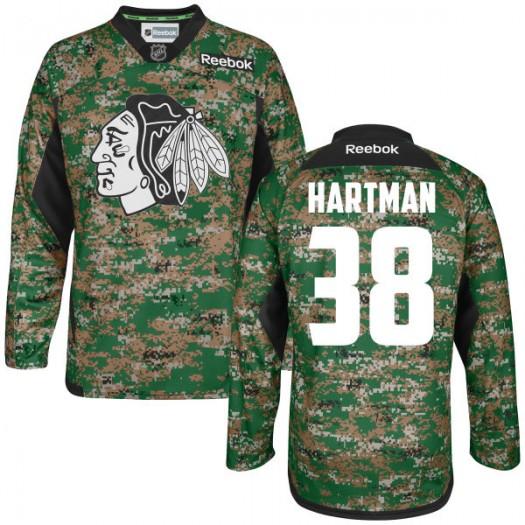 Ryan Hartman Chicago Blackhawks Men's Reebok Authentic Camo Digital Veteran's Day Practice Jersey