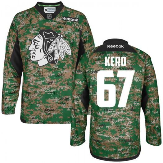 Tanner Kero Chicago Blackhawks Men's Reebok Authentic Camo Digital Veteran's Day Practice Jersey