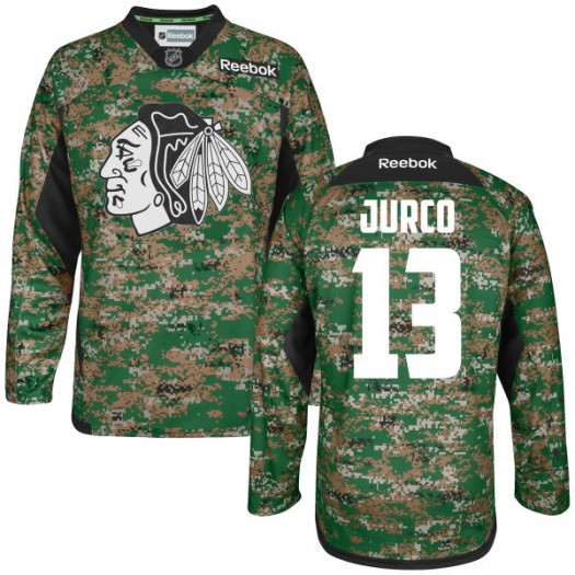 Tomas Jurco Chicago Blackhawks Men's Reebok Authentic Camo Digital Veteran's Day Practice Jersey