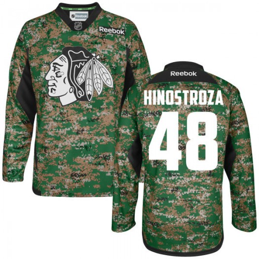 Vinnie Hinostroza Chicago Blackhawks Men's Reebok Authentic Camo Digital Veteran's Day Practice Jersey