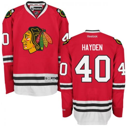 John Hayden Chicago Blackhawks Men's Reebok Authentic Red Home Jersey