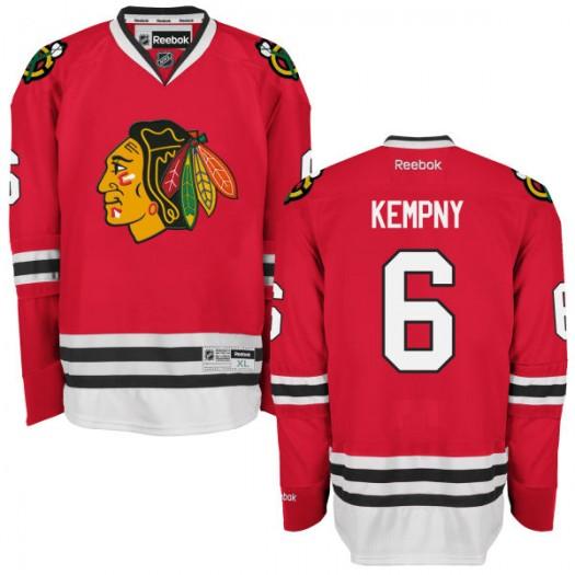 Michal Kempny Chicago Blackhawks Men's Reebok Authentic Red Home Jersey