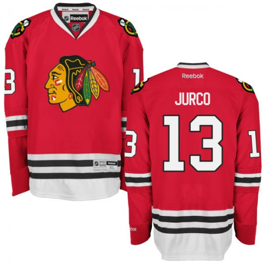 Tomas Jurco Chicago Blackhawks Men's Reebok Authentic Red Home Jersey