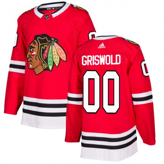 Clark Griswold Chicago Blackhawks Men's Adidas Authentic Red Jersey