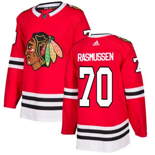 Dennis Rasmussen Chicago Blackhawks Men's Adidas Authentic Red Jersey