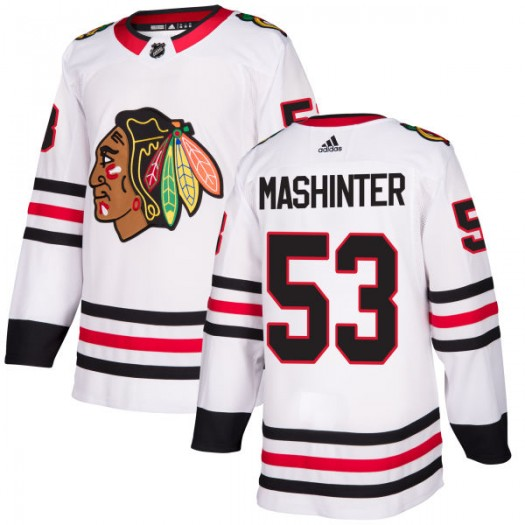 Brandon Mashinter Chicago Blackhawks Men's Adidas Authentic White Jersey