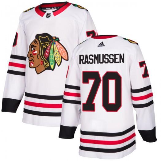 Dennis Rasmussen Chicago Blackhawks Men's Adidas Authentic White Jersey