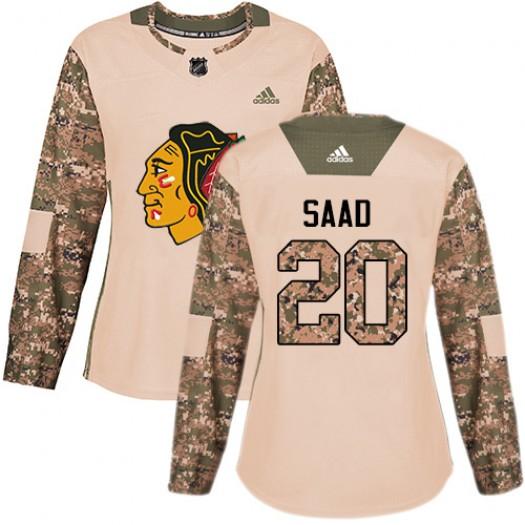 Brandon Saad Chicago Blackhawks Women's Adidas Premier White Away Jersey
