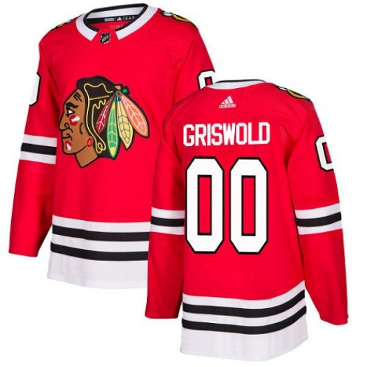 Clark Griswold Chicago Blackhawks Men's Adidas Premier Red Home Jersey