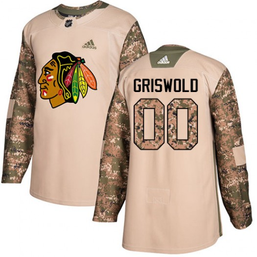 Clark Griswold Chicago Blackhawks Youth Adidas Premier White Away Jersey