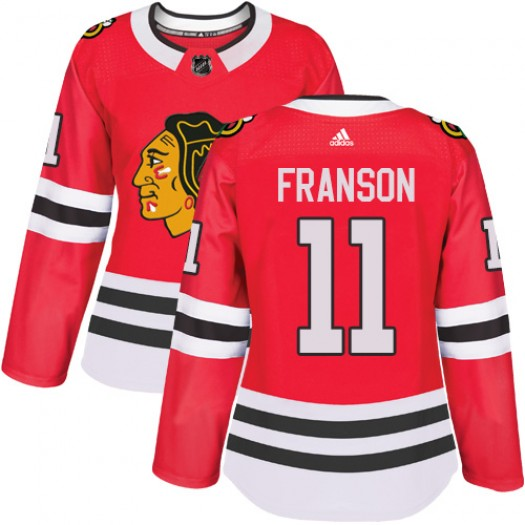 Cody Franson Chicago Blackhawks Women's Adidas Authentic Red Home Jersey