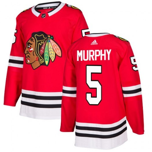 Connor Murphy Chicago Blackhawks Youth Adidas Authentic Red Home Jersey